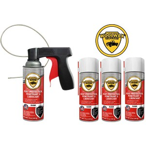 Woolwax® Spray Can Kits. Straw(clear), or Black. You choose.  4 can, 6 can, or 12 can.